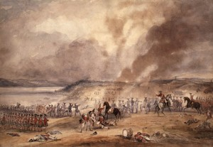 The Battle of Sainte-Foy Aquarelle de George Bryant Campion (ca1850) Source : BAC