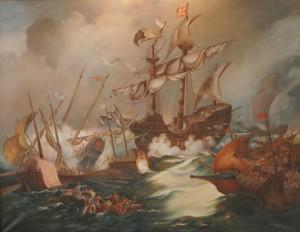 La bataille de Diu Peinture anonyme Source : wargaming.net