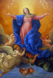 L'Assomption Détail d'une oeuvre sur soie de Guido Reni datée de 1642 et photographié par Brian J. McMorrow (2006) Source : Wikimedia Commons