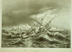 Coup de vent près des iles Powell 1838
